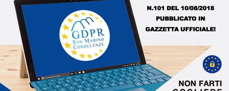 Privacy 2018: pubblicato in Gazzetta il decreto legislativo n.101 del 10/08/2018
